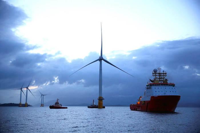 Первые в мире плавучие морские ветряные турбины работают лучше, чем ожидалось Ветряные турбины, Альтернативная энергетика, Ветровая электростанция, Плавучая электростанция