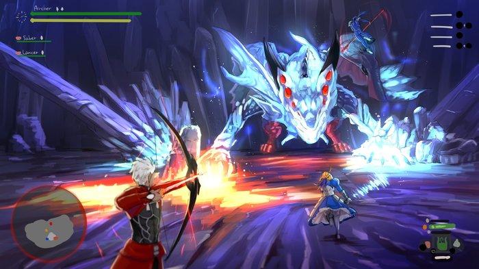 Monster Hunter: World of Fate Anime Art, Crossover, Fate-Stay night, Monster Hunter World, Archer, Saber, Cu chulainn