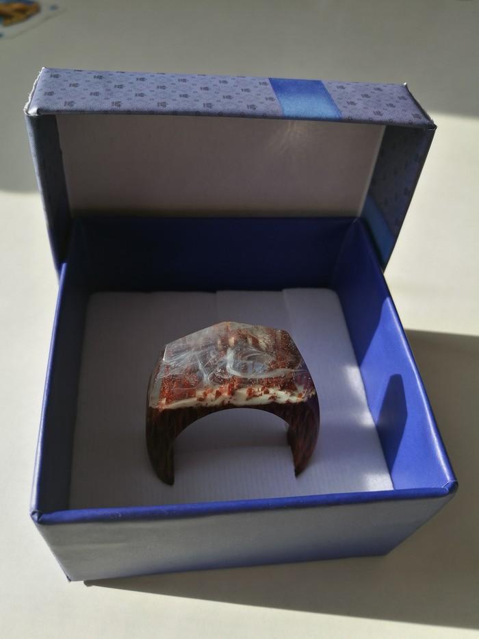 Кольцо №2 Кольцо из дерева лайсвуд,люминофора и смолы. Небольшой мастер класс. ручная работа, изделия из дерева, украшения ручной работы, кольцо, длиннопост