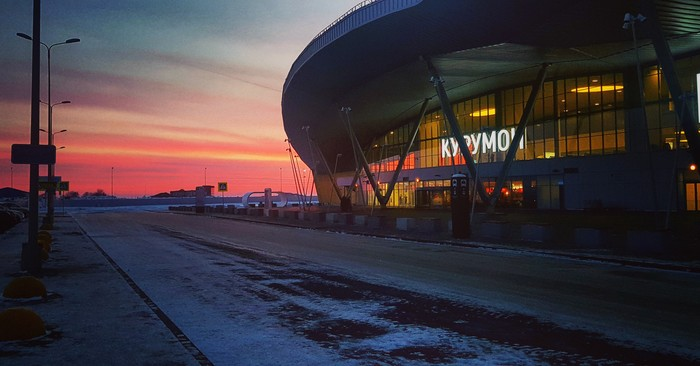 Рассвет в аэропорту Аэропорт, Курумоч, Рассвет