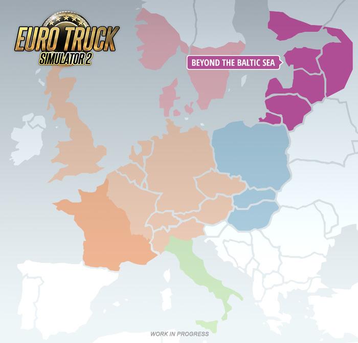 Анонсировано дополнение Beyond the Baltic Sea для Euro Truck Simulator 2 Euro Truck Simulator 2, Дополнение, Игры, Длиннопост