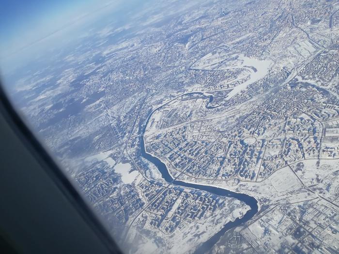 Пост одной фотографии Москва, Полет, С высоты птичьего полета, Фотография