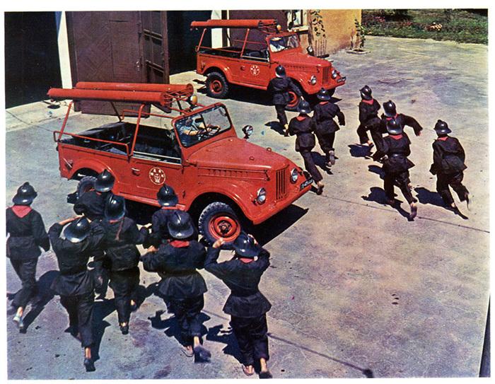 Пожарный автонасос на базе Газ-69 - ПМГ-20 Газ-69, Пожарная машина, История, Авто, Длиннопост, Видео