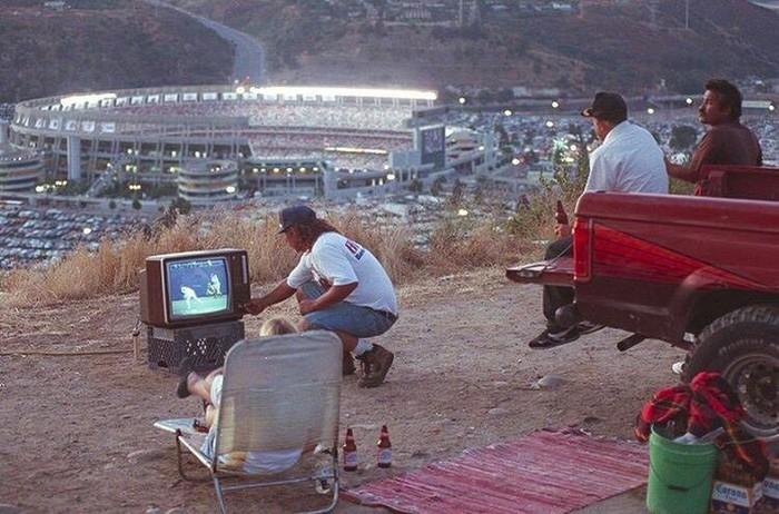 Атмосфера присутствия Бейсбол, Телевизор, Фанаты, Зрители, Стадион