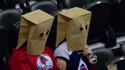 Когда недоволен игрой своей команды Спорт, Хоккей, Нхл, Болельщики, Гифка