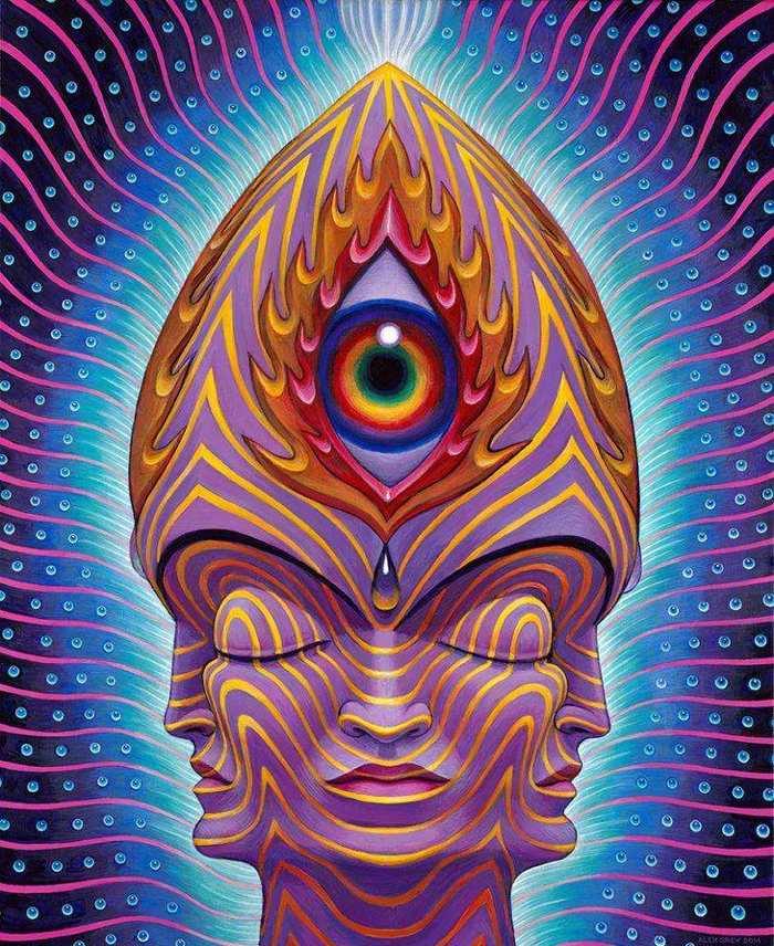 Немного психоделического арта от Алек Грея Алекс Грей, Психоделика, Арт, Наркомания, Длиннопост