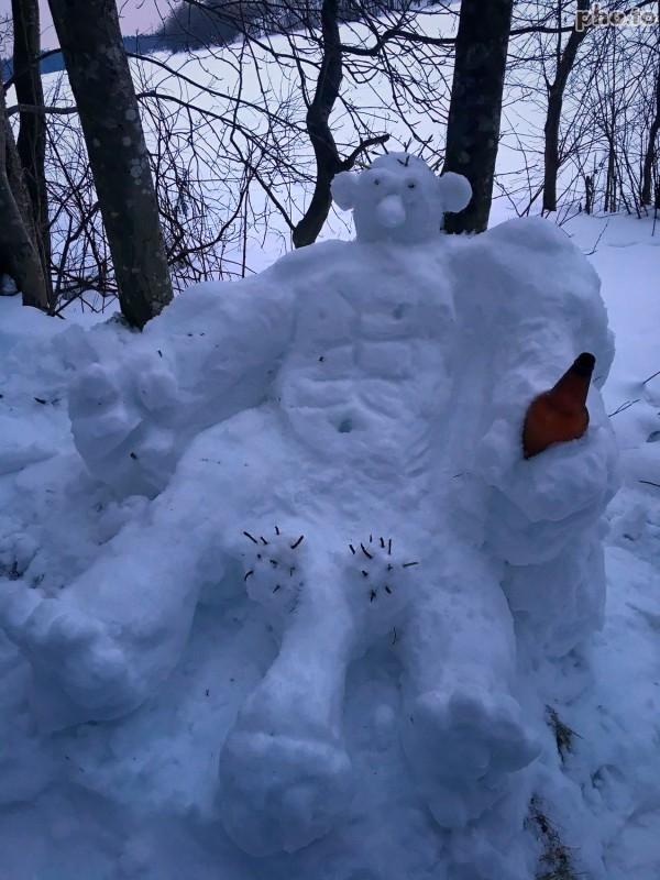 Восьмимартовский снеговик 8 марта, Снеговик, Клубничка