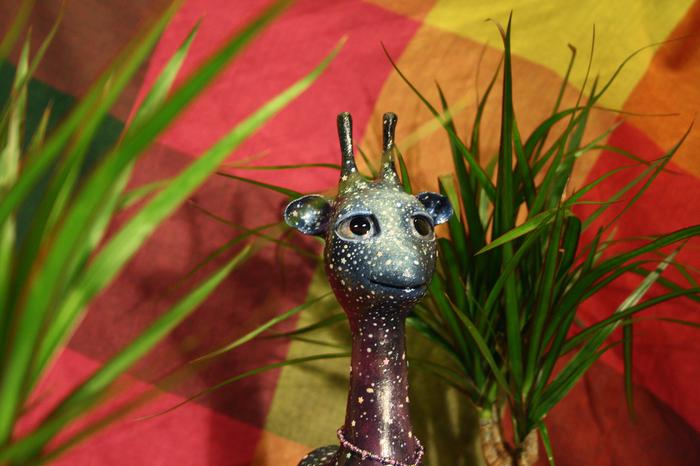 Зарби - космический жираф Жираф, Космос, Полимерная глина, Рукоделие без процесса, Первый пост, Длиннопост