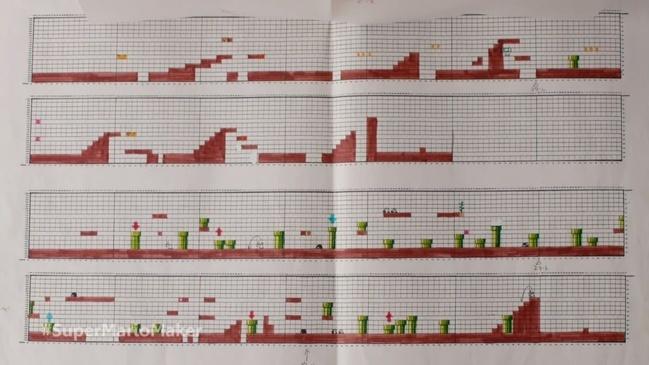 Разработка дизайна игры Super Mario Bros.