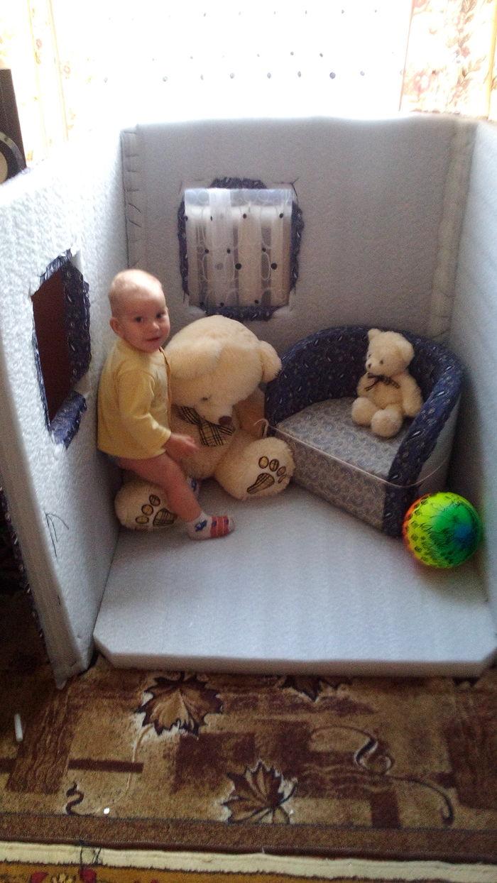 Игровой домик для детей. своими руками, все для детей, подарок, детские игрушки, длиннопост, Дети