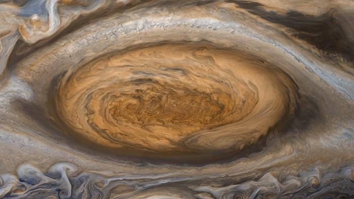 Большое красное пятно продолжает уменьшаться Космос, Большое, Красный, Пятно, Юпитер, Шторм, Гифка, Длиннопост