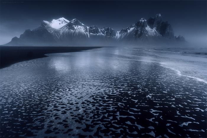 Холодные тона Исландии Исландия, Горы, Побережье, Холод, Фотография, Природа