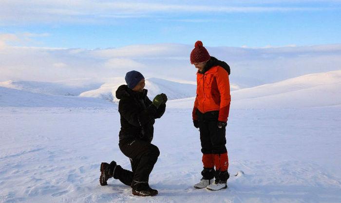 Мороз, ветерок и 670 метров над уровнем моря. Сингапурец на Ямале сделал предложение своей возлюбленной Новости, Ямал, Ямало-Ненецкий, ЯНАО, Предложение, Сингапур, Длиннопост