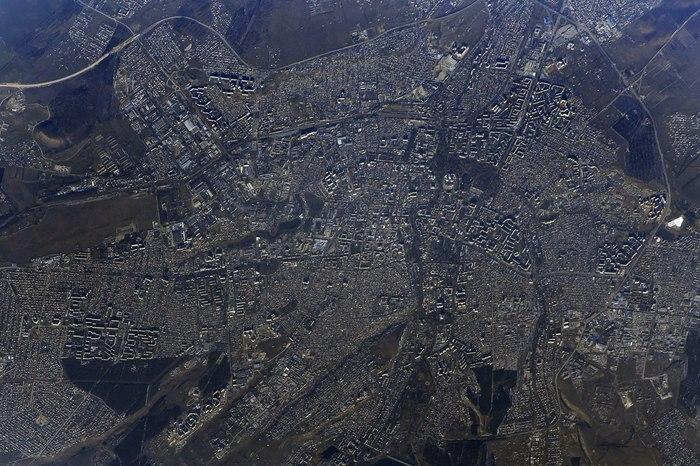 Фото с орбиты #2 Космос, Снимки из космоса, Антон Шкаплеров, Орбита, Красивое, Крым, Саки, Земля, Длиннопост