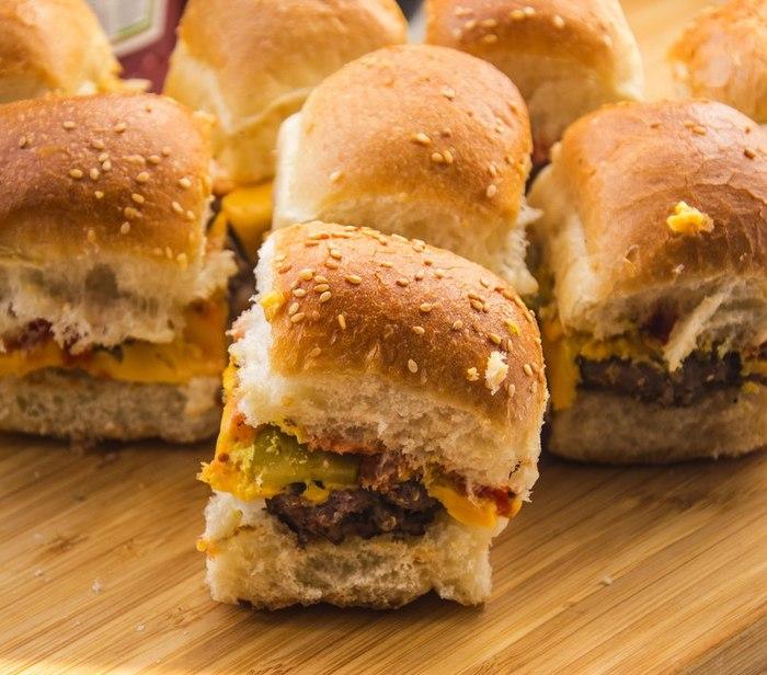 Бургер-девятистволка Еда, Рецепт, Бургер, Мясо, Сыр, Dinoburger, Гифка, Длиннопост