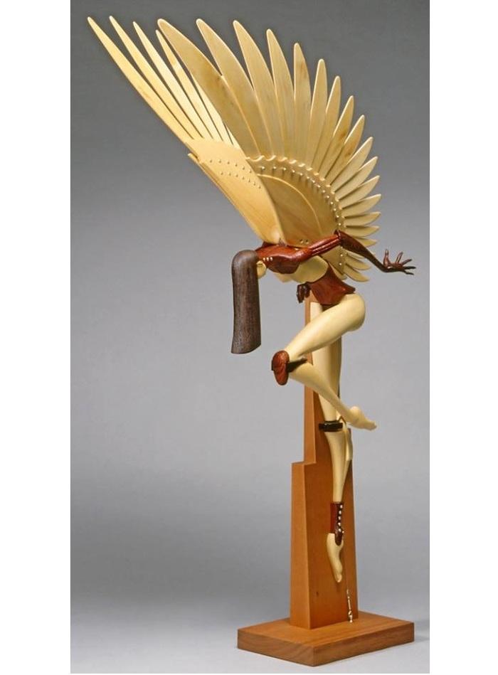 Деревянные скульптуры Джона Морисса Скульптура, Дерево, Австралия, Длиннопост, Фотография