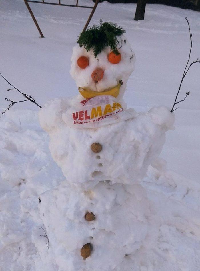 Когда очень хочется торт Крипота, Снеговик, Кишинев, Молдова, Снег, Не реклама, Длиннопост