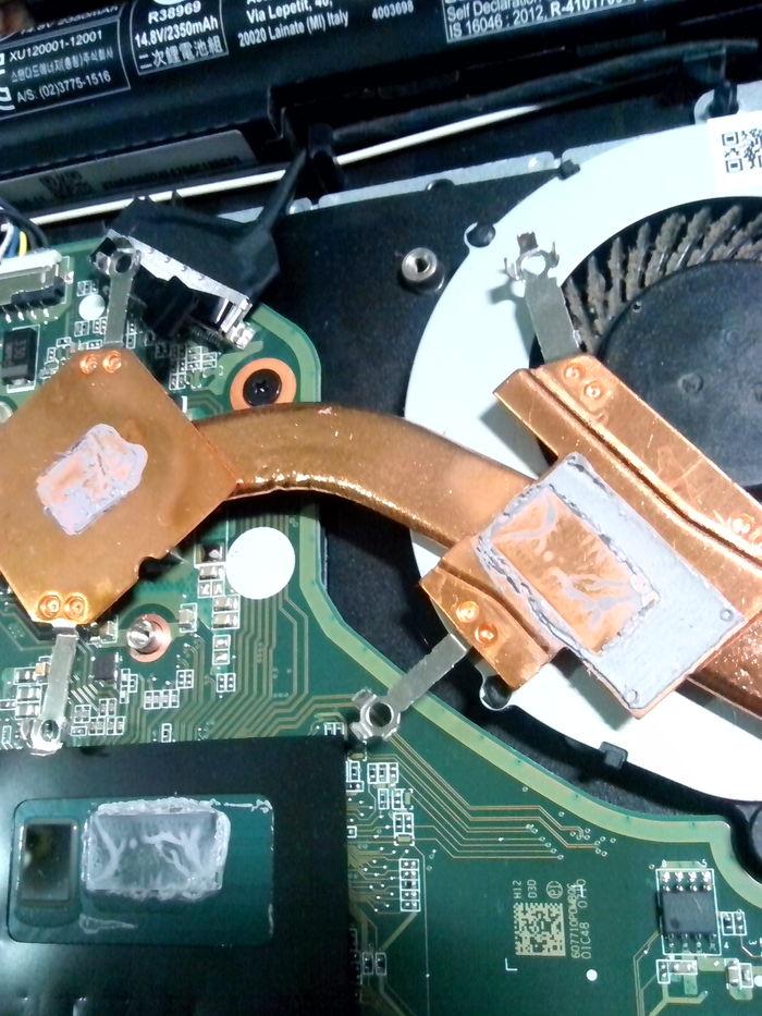 Компания ACER, а что, теперь это стало нормой? Ноутбук, Компьютер, Длиннопост, Охлаждение, Фотография, Acer, Материнская плата