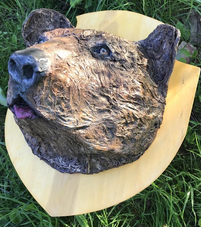 Подарок охотнику Медведь, Чучело, Авторская работа, Голова медведя, Моё, Подарок, Охота, Длиннопост