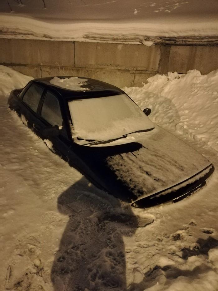 Неудачно припарковался до лета) Авто, Парковка