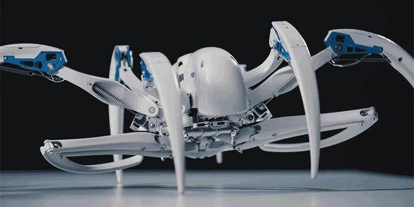 Новый робот-паук от компании Festo Робот, Новинки, Технологии, Развитие, Инновации, Будущее, Скайнет, Гифка, Видео