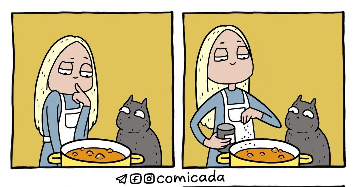 суп с котом картинки для пересказа стоит