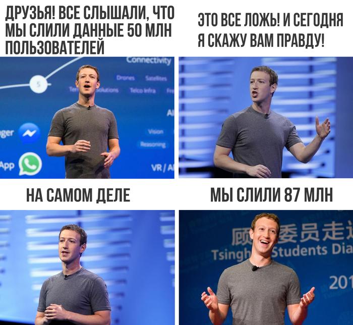 Немного уточнили Facebook, Марк Цукерберг, Слив, Утечка, Картинка с текстом
