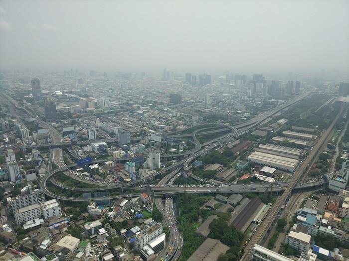 Вид на Бангкок с 84 этажа Бангкок, Таиланд, Байок скай, Длиннопост