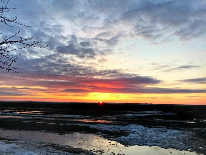 Безумный закат Закат, Деревня, Длиннопост