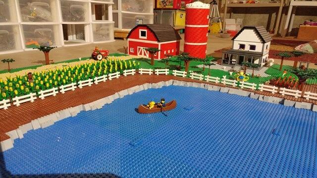 Ферма с озером из лего Lego, Много, Так не бывает, Reddit, Коллекция, Видео