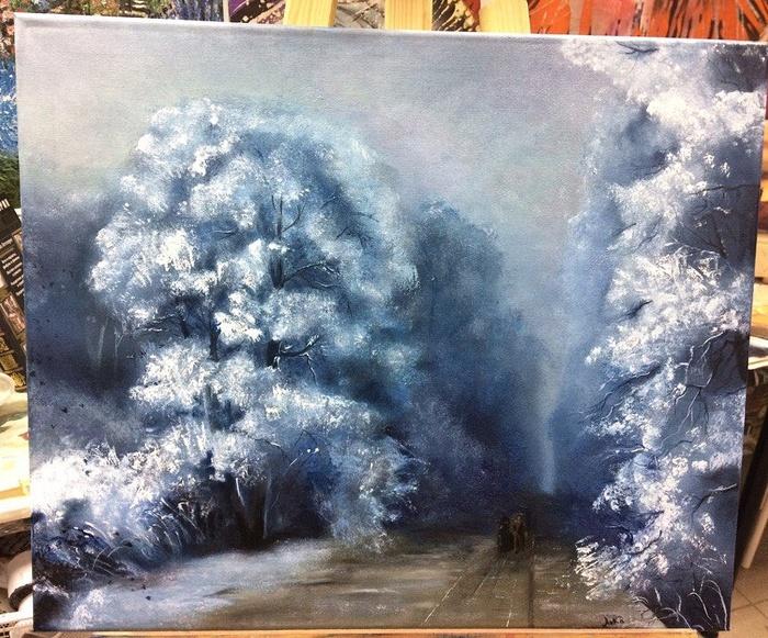Картина маслом творчество, вдохновение, моё, длиннопост, картина, масло, пейзаж