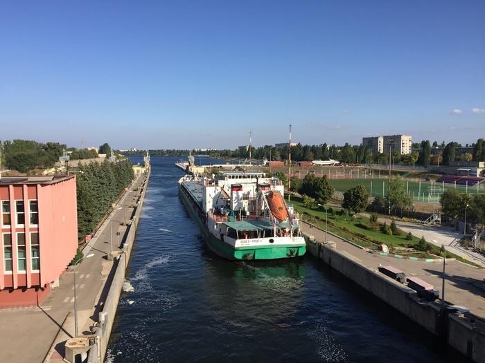 Река Волга шлюзы