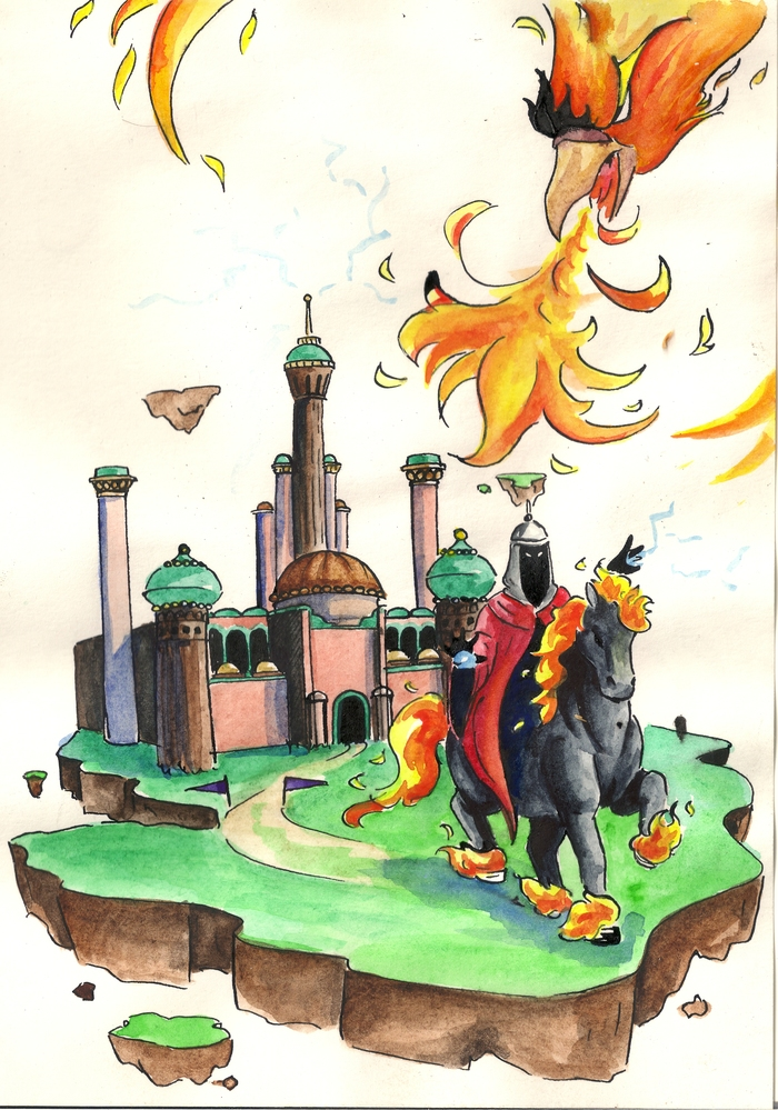 И еще одна футболка по HoMM III HOMM III, Герои меча и магии, Сопряжение, Феникс, ЮкАрт, Длиннопост