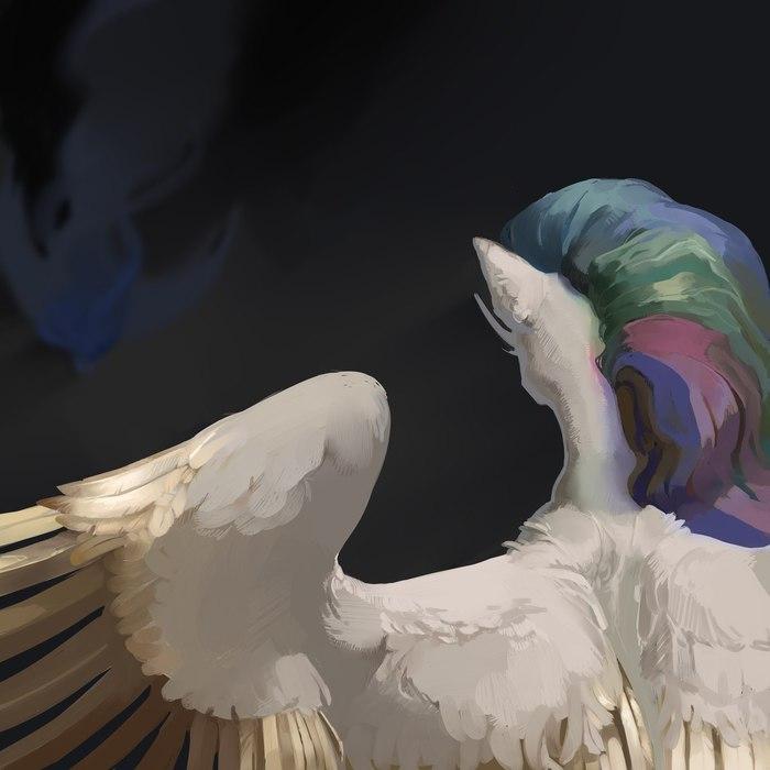 Тук-тук, тук-тук, тук-тук... тук... My little pony, Princess Celestia, Princess luna, Ponyart