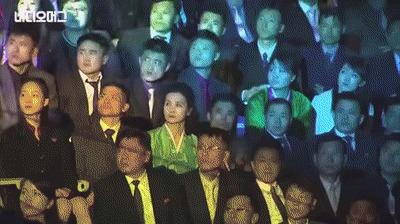 Партия приказала радоваться. Или приказы не обсуждаются. Северная Корея, Южная Корея, Радость, Партия, Наслаждение, Гифка