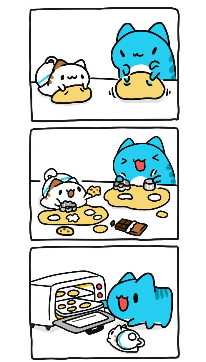 Выпечка! Bugcat-Capoo, Бракованный кот, Кот, Печенье, Выпечка, Чудовище, Приготовление, Длиннопост