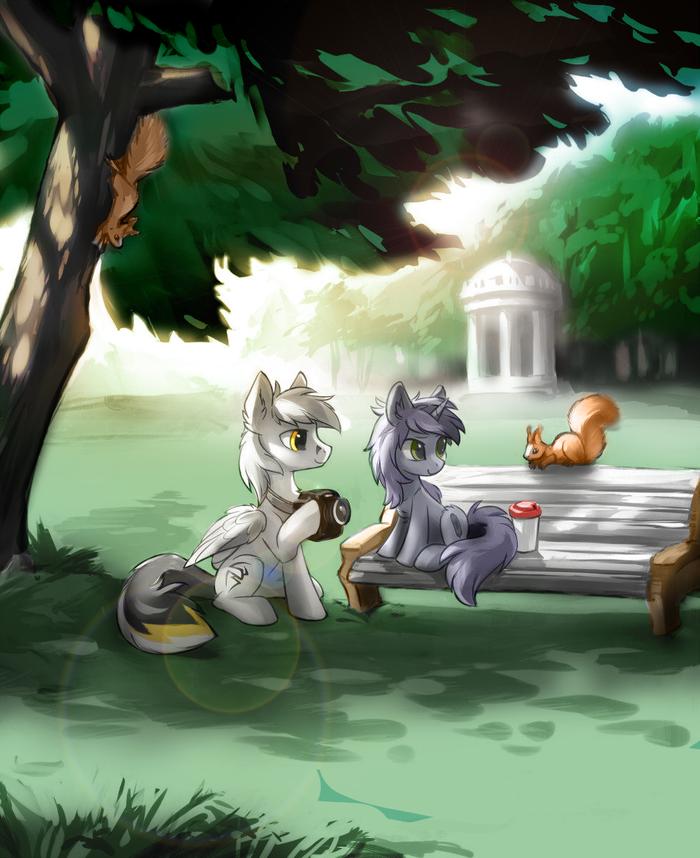 (Ч.б. в цвете #42) My little pony, Арт, Колоризация, Photoshop, Частично моё, Kate and Kej