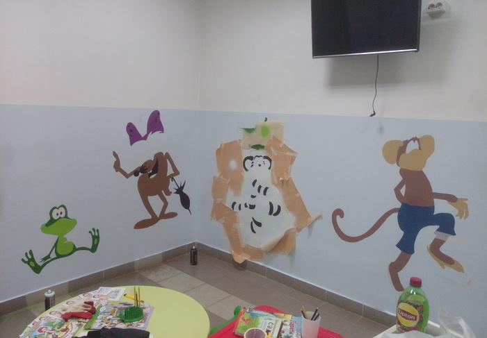 Детский уголок в больнице