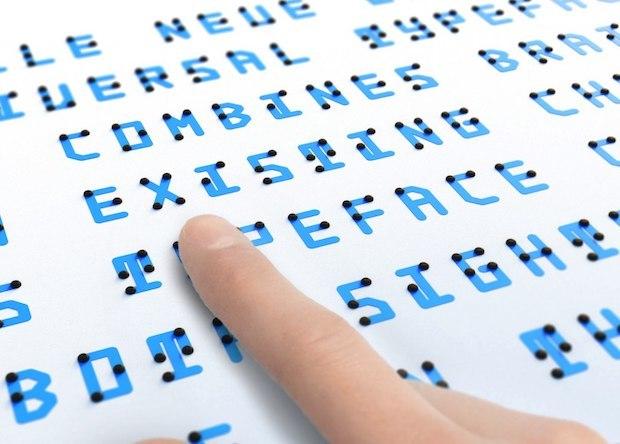 Японский дизайнер создал универсальный шрифт для зрячих и незрячих  Наука, Новости, Лингвистика, Шрифт, Длиннопост