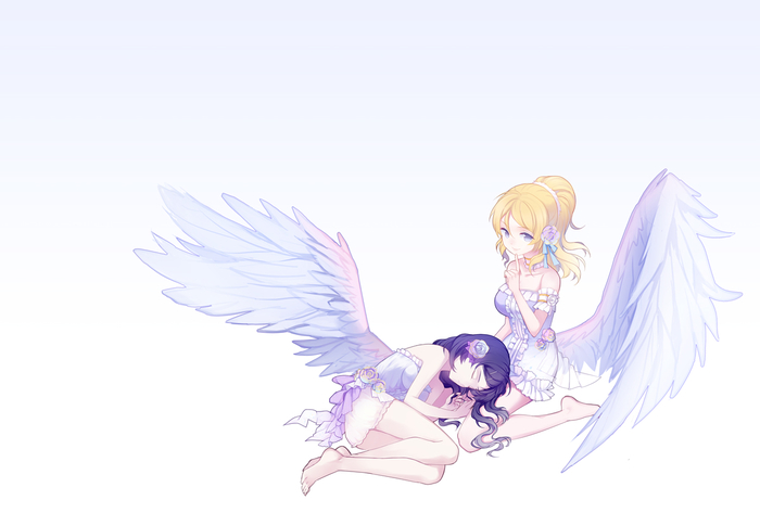Angels Anime Art, Девушки, Angels, Love Life!