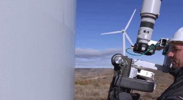Робот для осмотра лопастей ветряка
