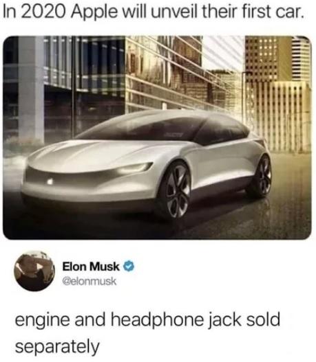 В 2020 году Apple представит свой первый автомобиль Apple, Авто, Перевод, Алчность, Инновации, Илон Маск