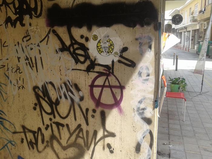 Первый день в Европе Кипр, Южный Кипр, Стена, Анархия, Длиннопост