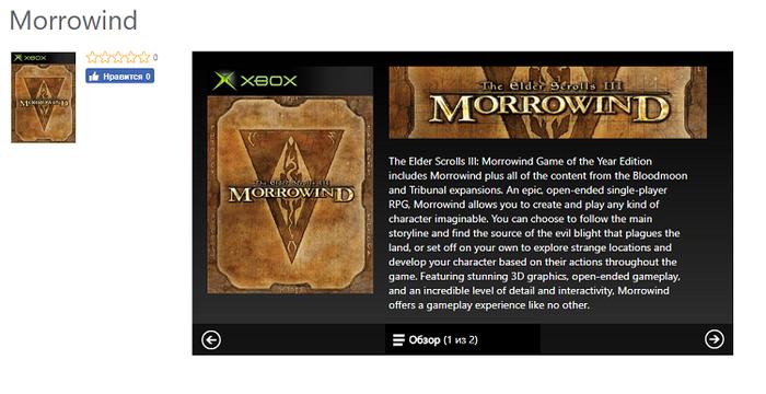 The Elder Scrolls III: Morrowind появится на Xbox One The Elder Scrolls, Microsoft, XBOX ONE, Morrowind