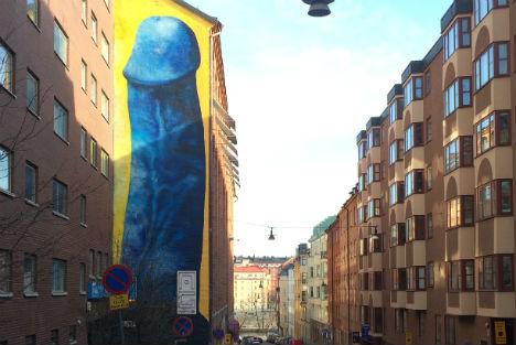 Искусство Стокгольма Швеция, Стокгольм, Искусство, Граффити, Член, Бывает, Интернет