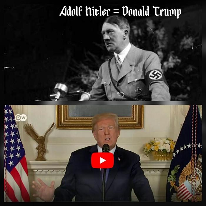 Гитлер = Трамп Трамп, Адольф Гитлер, Сирия, Война, Коллаж, Политика, США