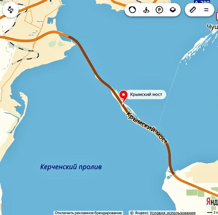 Крымский мост появился на Яндекс. Картах