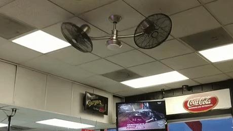 Мы установили тебе вентиляторы на твой вентилятор