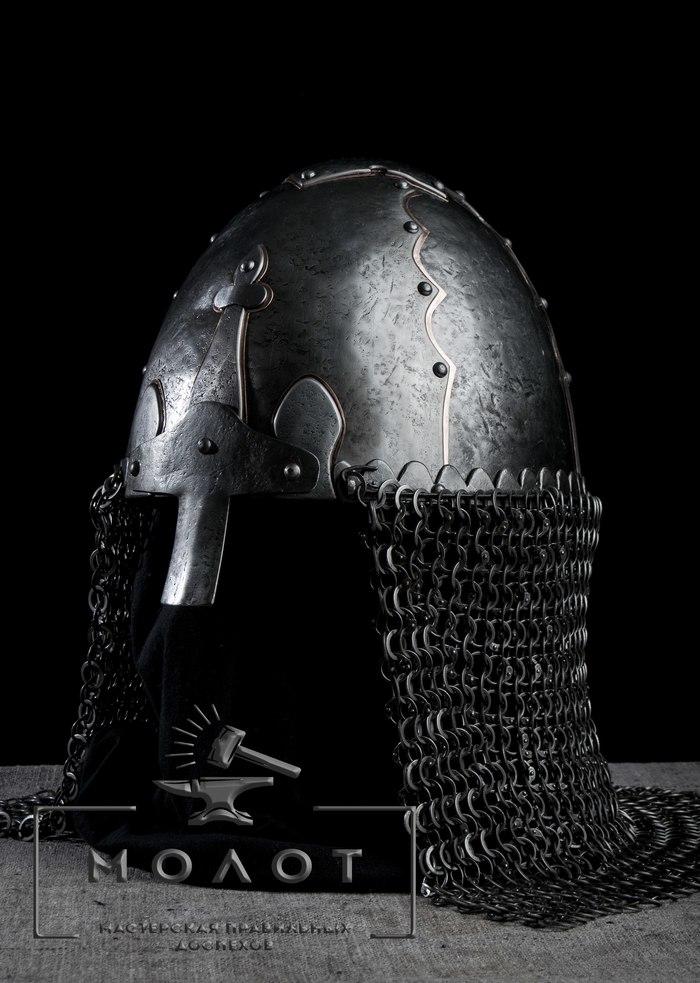 Версия шлема из захоронения МанвеловкаIX-X Манвеловка, Шлем, Реконструкция, Версия, Ковка, Художественная ковка, Доспехи, Молот, Длиннопост