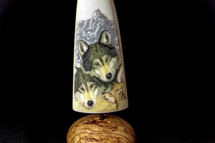"""Миниатюра """"Волки"""" Своими руками, Волк, Скример, Гравировка, Ручная гравировка, Длиннопост"""